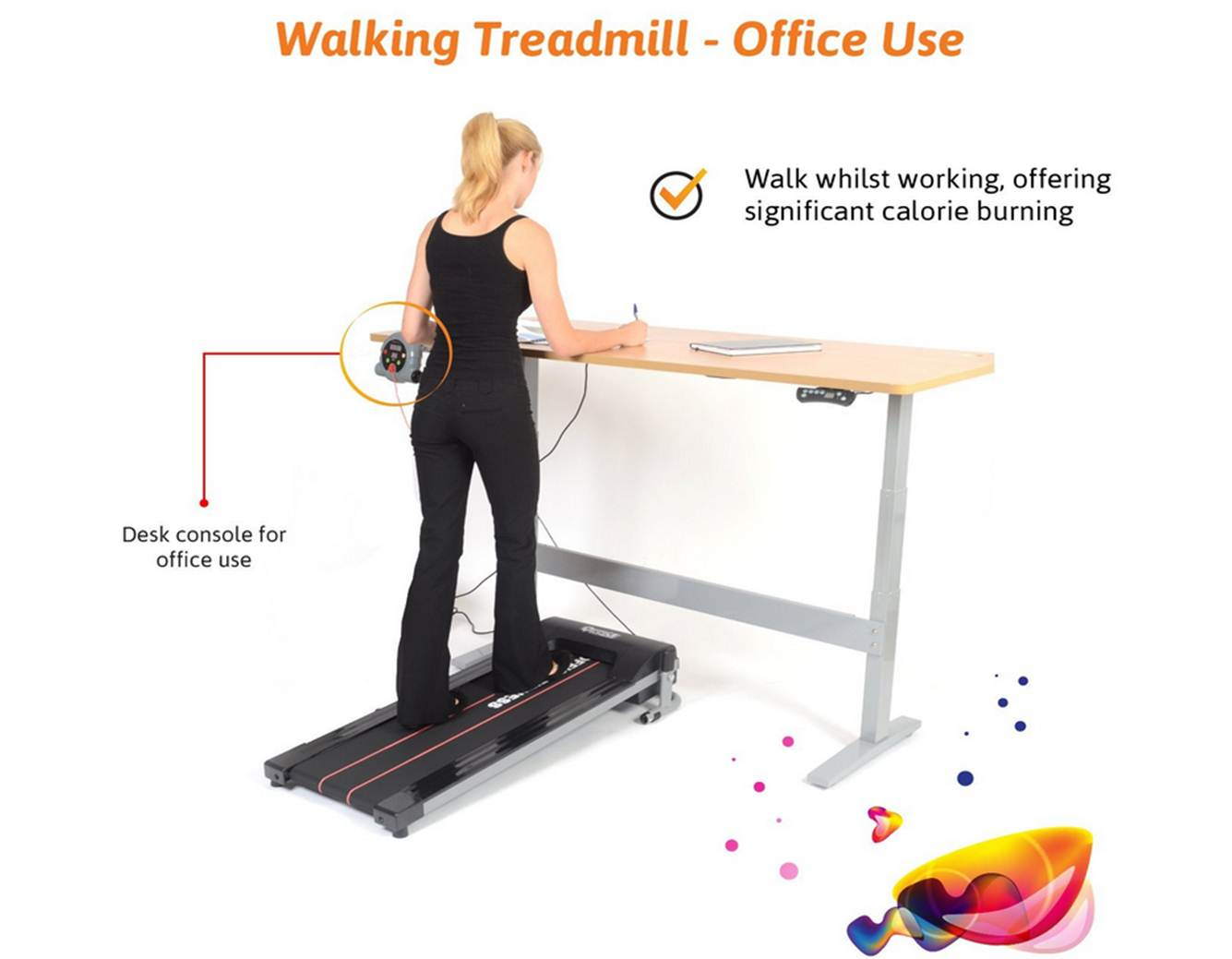 Office Fitness Dual Purpose Walking Treadmill
