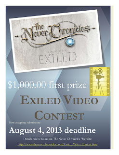 video contest, the never chronicles, exiled, big prize video contest