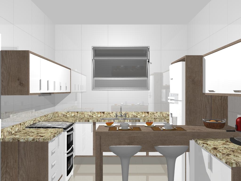 projeto de cozinha planejada em mdf #9F5F2C 1024 768