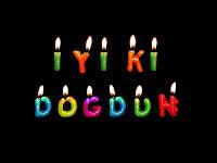 İyi ki doğdun,doğum günü yazısı,harf mumlar