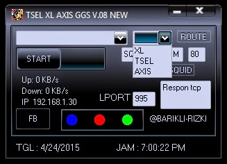 Inject Telkomsel XL Axis GGS V.08 24 April 2015