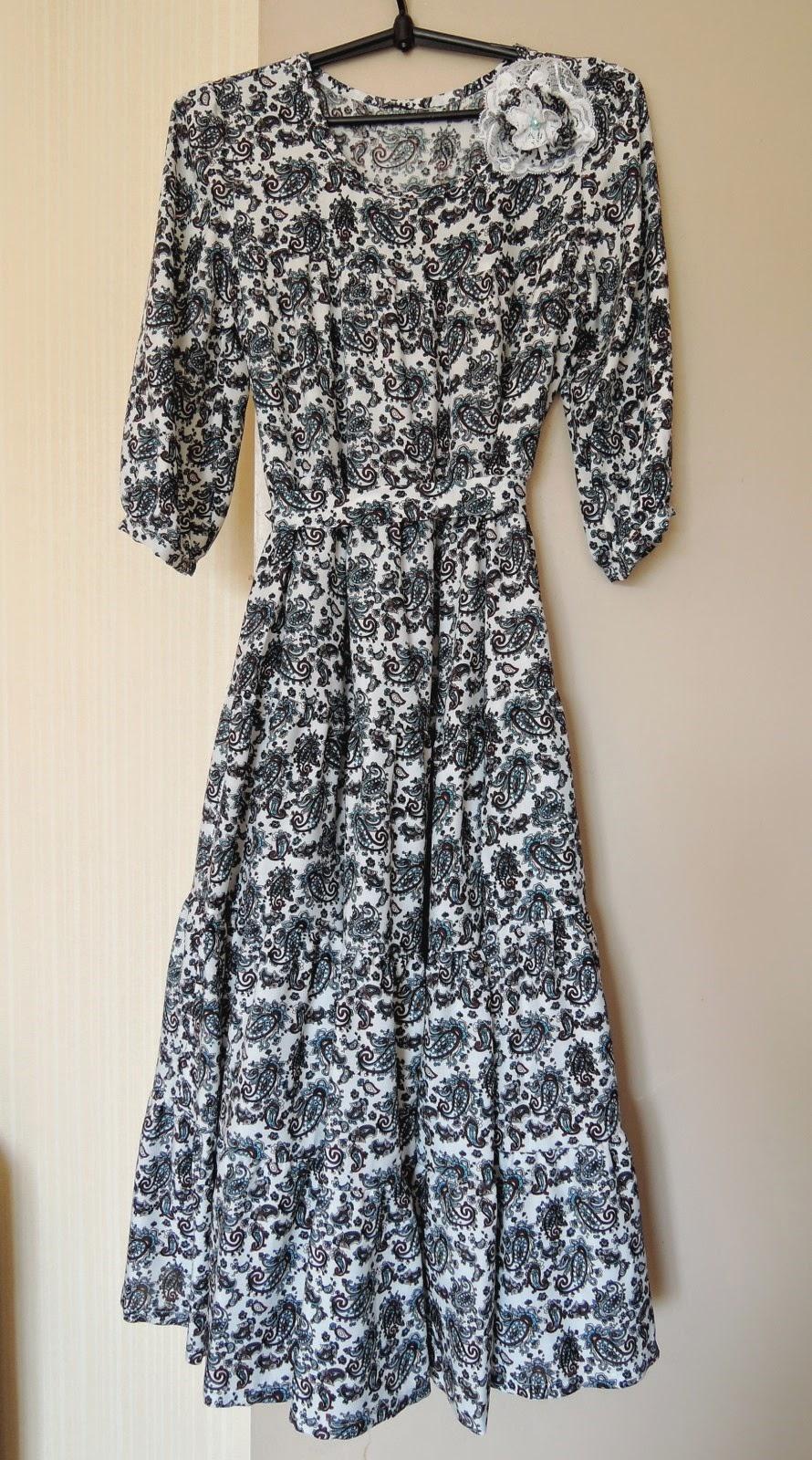летнее платье расцветка в огурцы