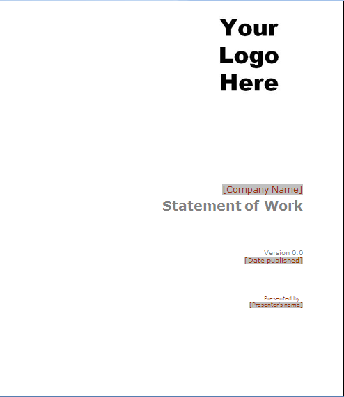 Statement of Work Samples