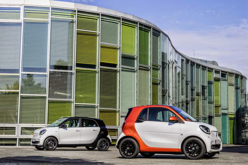 2016 Smart ForFour and ForTwo