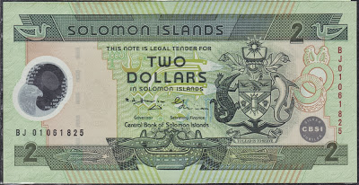 Isole Solomon 2 Dollars 2001 Commemorative Issue P# 23a