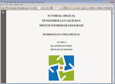 Klasifikasi Citra Multispektral dengan ER Mapper www.guntara.com