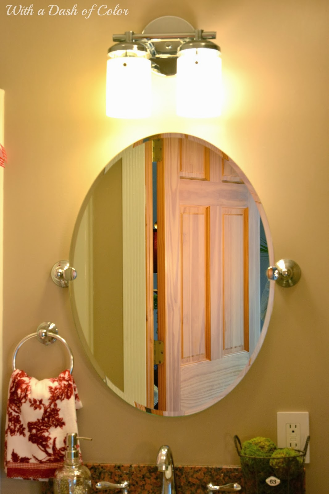 With a dash of color french country bathroom for French country bathroom lighting