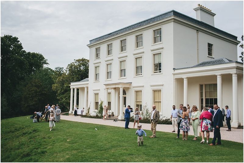 Guests outside Greenway House