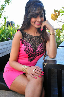 Shilpi Sharma Mumbai Model Telugu Heroin in Lovely Short Pink Dress Must see Dimples