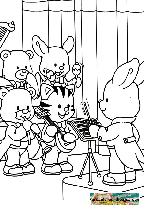 orquesta de musica para colorear