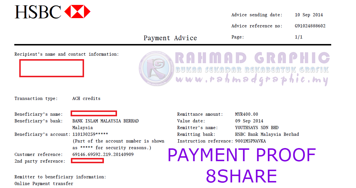 Payment Proof 8share