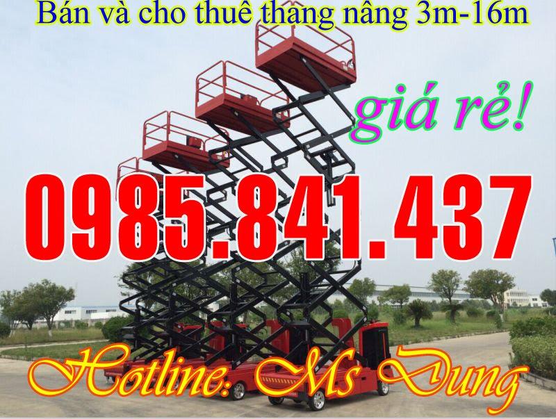 Thnag nâng trượt, thang nâng tự hành nâng cao 3m-16m