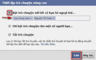 Cách offline Facebook với một số người