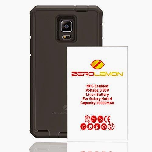 Zerolemon Samsung Galaxy Note 4 10000mah Extended Battery