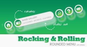 Membuat Rocking Rolling Rounded Menu dengan JQuery dan CSS3
