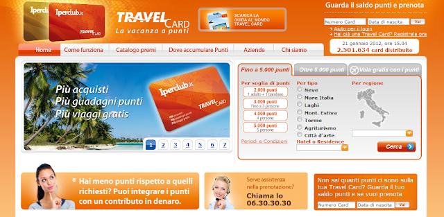 Carta punti Travel Card Iperclub