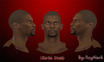 NBA 2K13 Chris Bosh Cyberface Mod