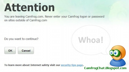 Peringatan Camfrog Redirect Website