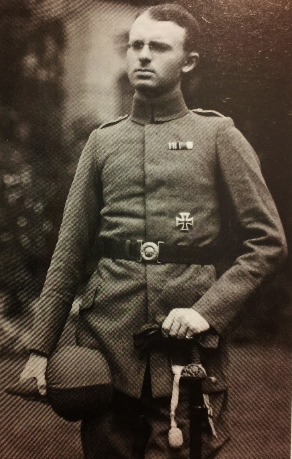 Wilhelm Eduard Koch (William Edward Hinchley Cooke)  dressed in a German uniform for undercover work in POW camps.  (From Defence of the Realm)