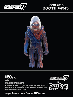 "San Diego Comic-Con 2015 Exclusive ""Marbled Massacre"" Alien Popy Vinyl Figure by Super7 & Secret Base"