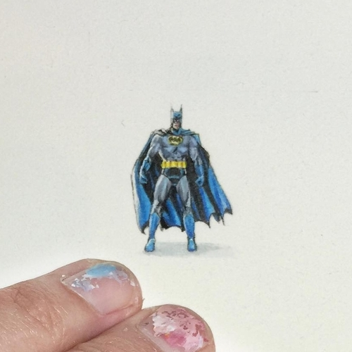 20-Batman-Karen-Libecap-Star-Wars-&-other-Miniature-Paintings-and-drawings-www-designstack-co