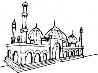 91 Foto Gambar Masjid Dari Pensil Terbaik