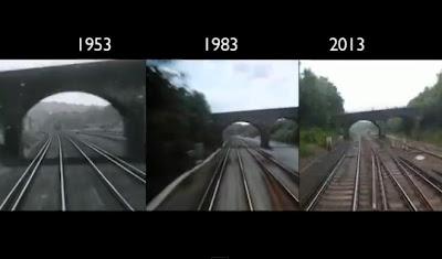 viajes en tren en diferentes años