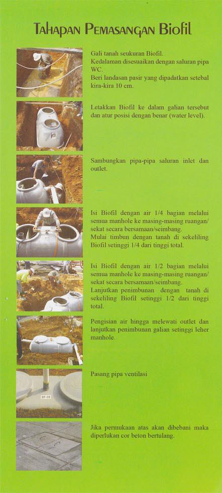 cara pasang, septic tank biofil, asli, modern, baik, induro, indonesia, biotech, go green, ramah lingkungan, fibreglass