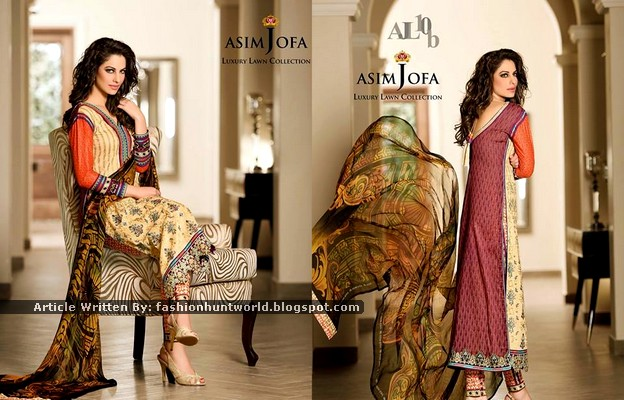 Asim Jofa Luxury Lawn Collection 2015 For Formal Wear