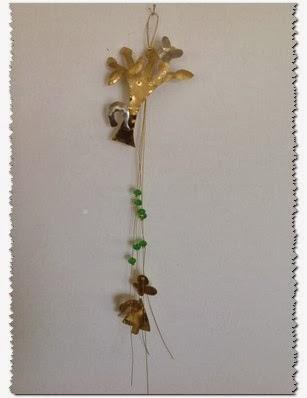 Καταπληκτικό δενδράκι μεταλλικό γούρι 2014 κρεμαστό