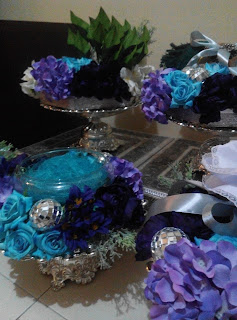 Gubahan Hantaran Artificial Biru Purple