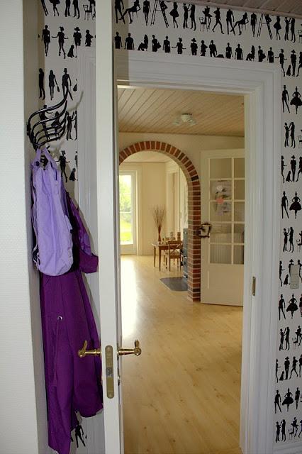 ævlebævle: indretning med tapeter