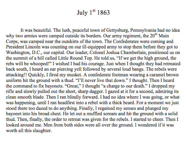 CCA - Teachers: My son's first short story in 5th grade