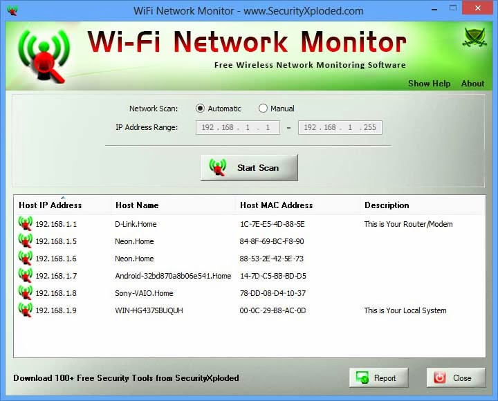Windows Network Monitor : Wifi network monitor tool to watch your wireless