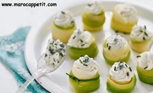 Nids de courgettes à la chantilly | Nests with whipped cream zucchini