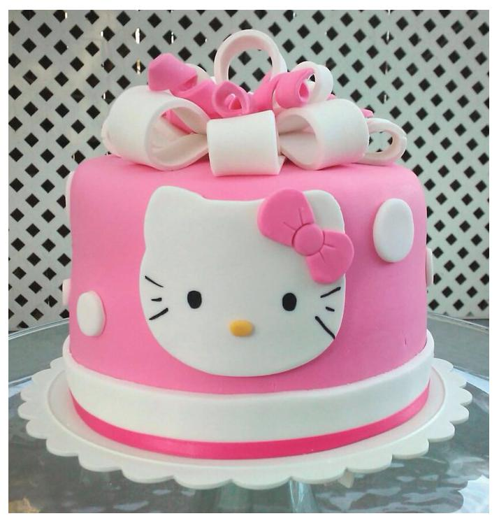 Images Of A Hello Kitty Cake : Bits N  Bytes: Hello Kitty Cake and Cupcakes
