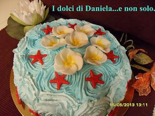 torta gelato con stelle marine
