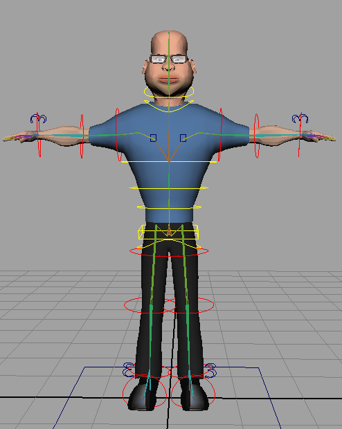 3D cartoon rigging character for animator