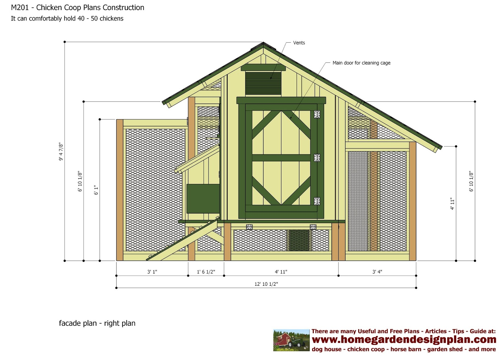 Plans for building a chicken run venpa for Chicken run plans