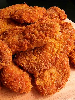 Domowe Nuggetsy w Płatkach Kukurydzianych - Przepis - Słodka Strona