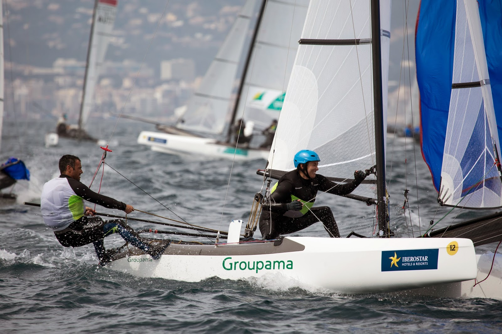 Franck Cammas et Sophie de Turckheim, troisièmes à Palma.