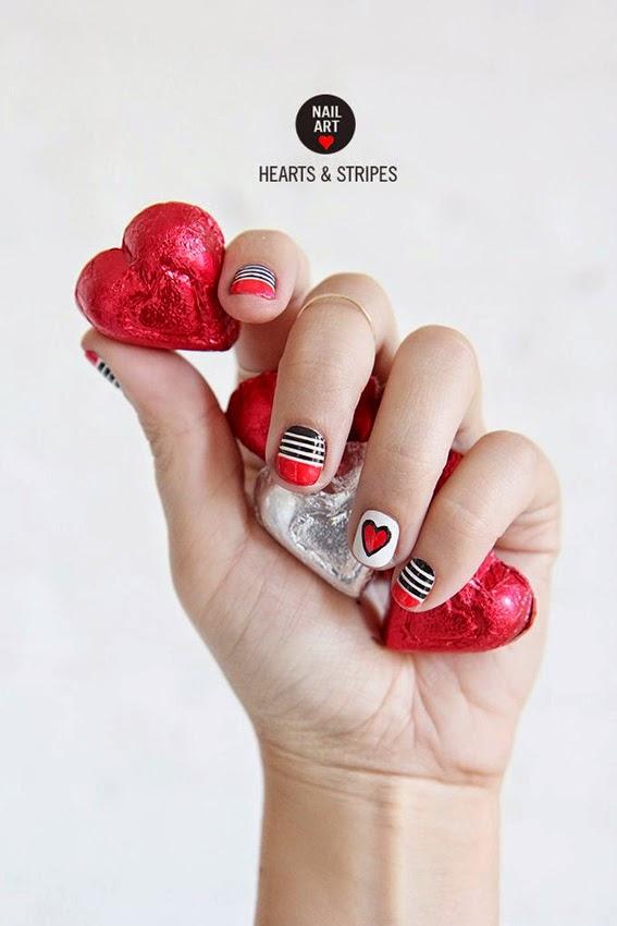 http://ispydiy.com/nail-art-valentines-day-stripes-hearts/