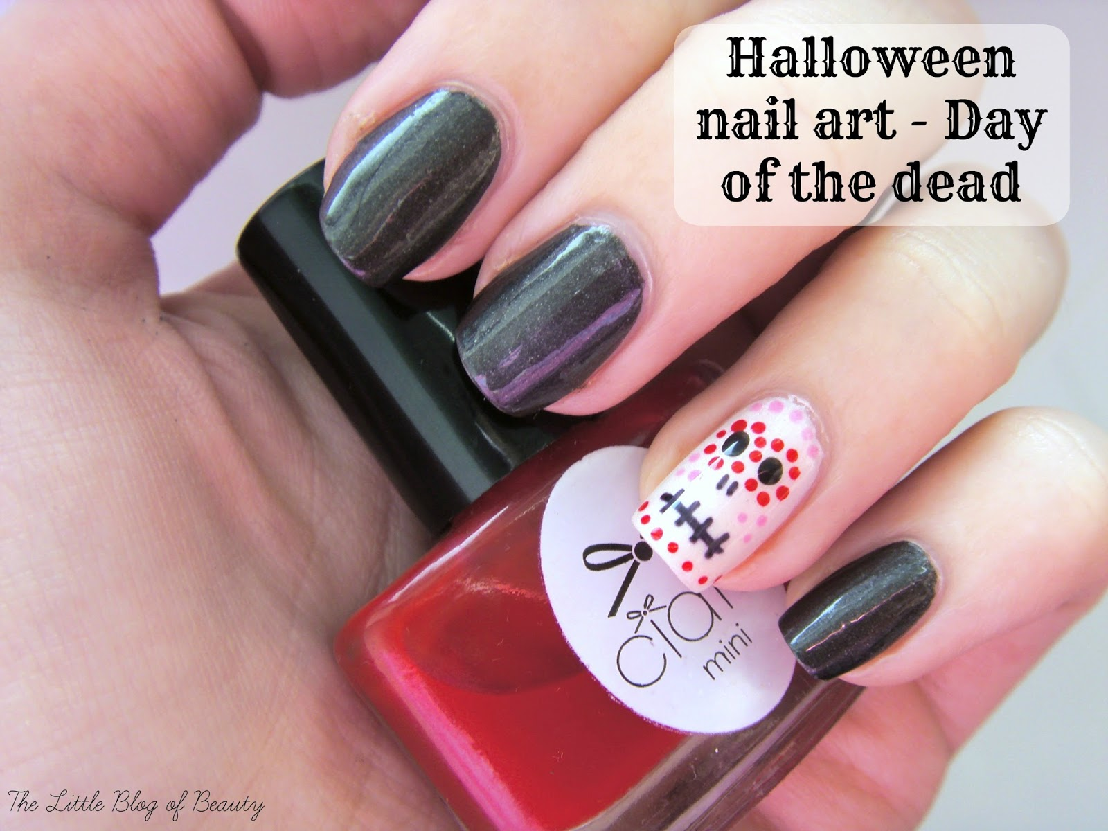 Halloween nail art - Day of the dead
