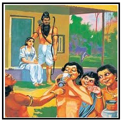 Dronacharya with his wife