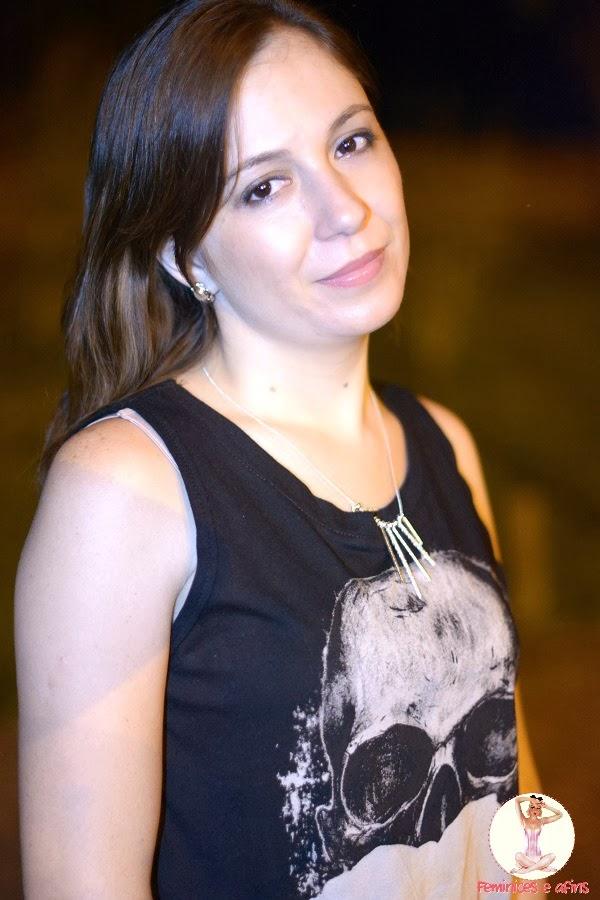 Romwe t-shirt caveira