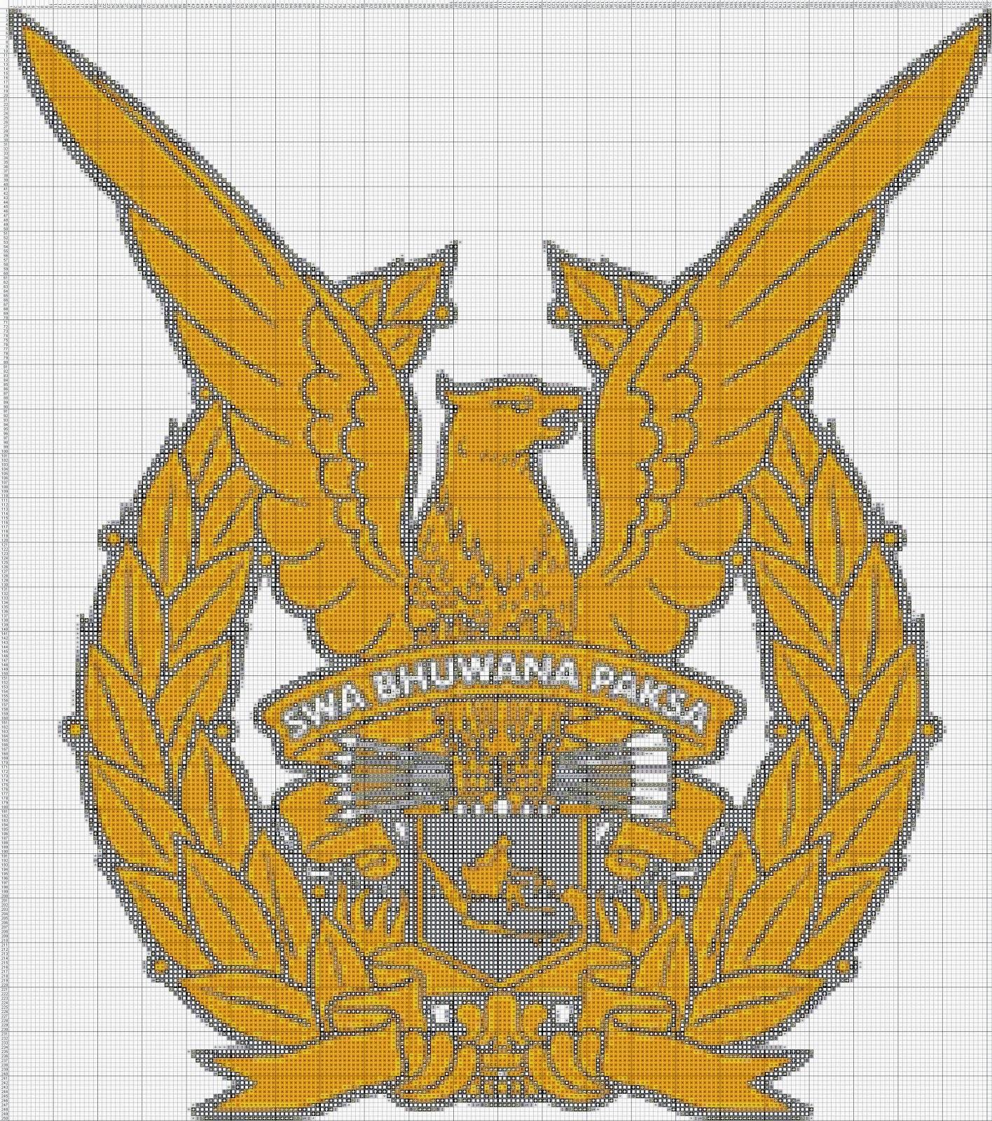 Gambar Pola Kristik Lambang TNI-AU