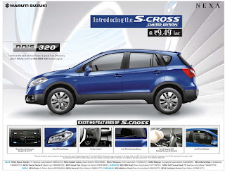 Maruthi Suzuki S-Cross DDiS 320 offer in Delhi | Festive offer on S-Cross
