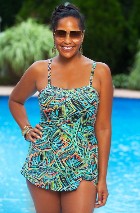 plus size swimwear sarong style