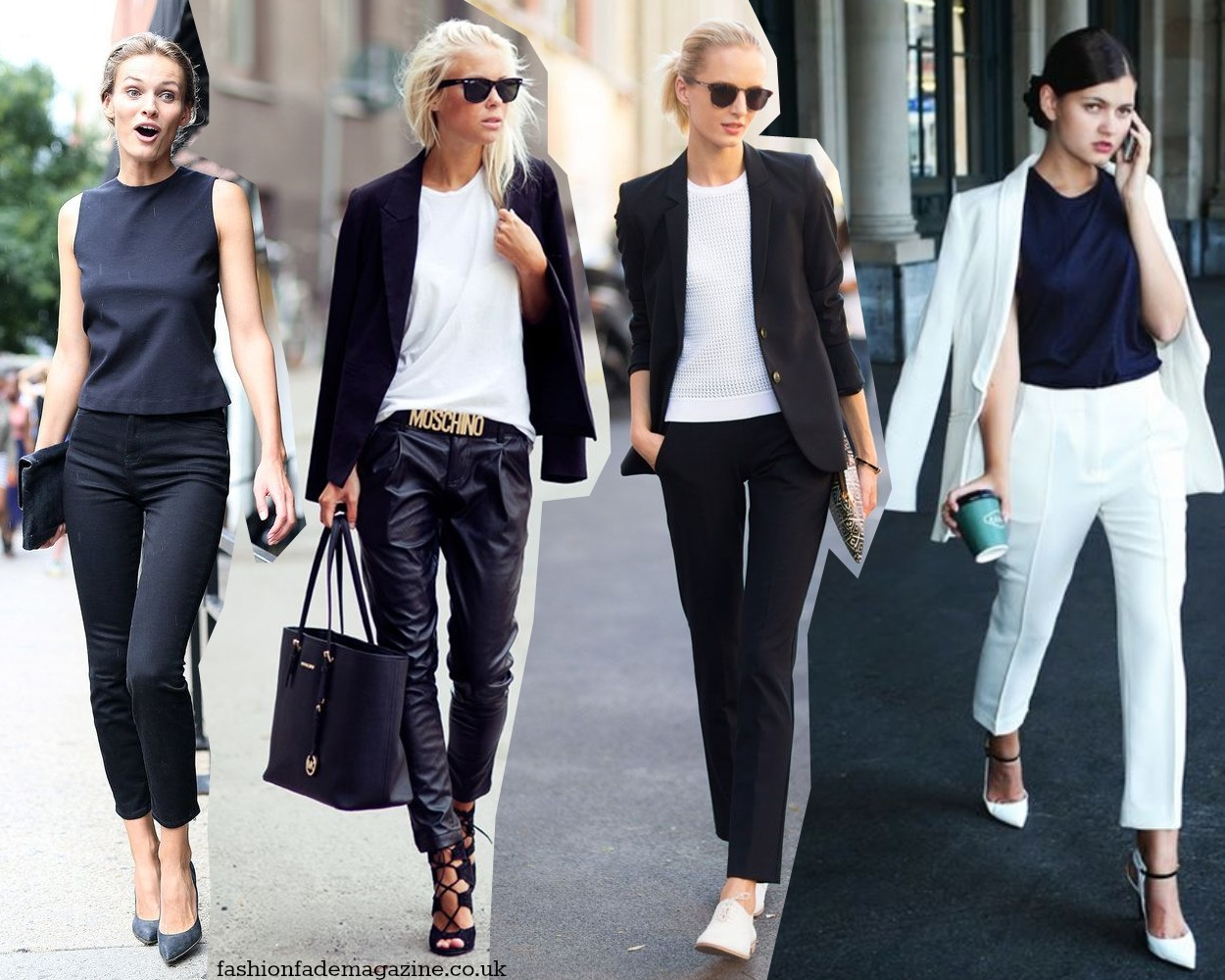 monochrome trend outfits street style 2015 fashion looks magazine blog black and white mimimal