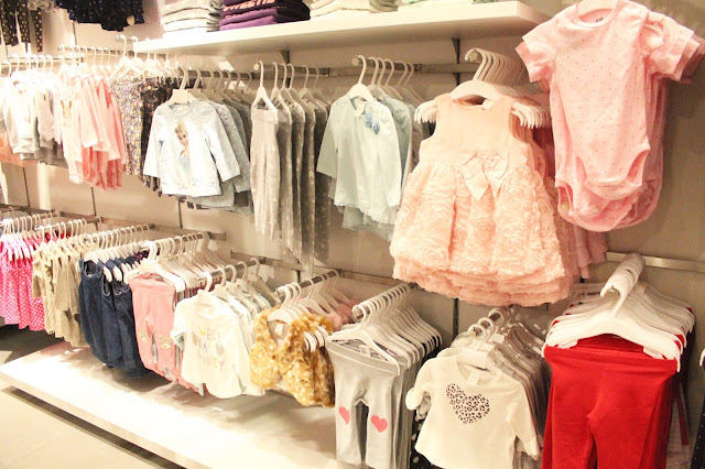 baby clothing at H&M Cardiff